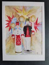 """Karte """"Engel und Bergmann"""" 10,4 x 14,7 cm"""