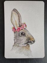 """Postkarte """"Shabby Hase"""" 10,4 x 14,7cm"""