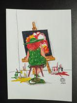 """Postkarte aus der Serie """"Die kleine Madame reist"""" Motiv 152"""