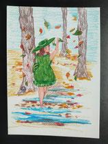 """Postkarte aus der Serie """"Die kleine Madame reist"""" Motiv 85"""