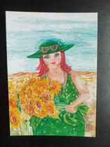 """Postkarte aus der Serie """"Die kleine Madame reist"""" Motiv 67"""
