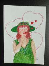 """Postkarte aus der Serie """"Die kleine Madame reist"""" Motiv 59"""