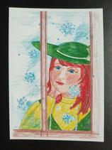 """Postkarte aus der Serie """"Die kleine Madame reist"""" Motiv 145"""