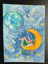"""Postkarte aus der Serie """"Die kleine Madame reist"""" Motiv 111"""