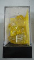 Set de Dados - 7 - Translucent Yellow/white