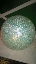 Mosaikkugel aquamarin/hellblau/türkis 25 cm Durchmesser