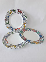 3 PLATES design KEITH HARING for VILLEROY AND BOCH