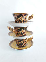 LOT OF 3 CUPS VERSACE MODEL BAROCCO for ROSENTHAL