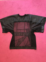 Transparent Oversized Black Shirt