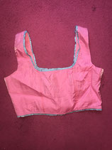 Pink Shiney Baby Blue Two Tone Top