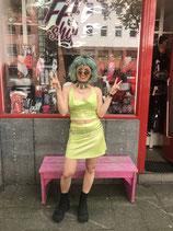 Green Lime Lamé Haltertop incl. Bandana
