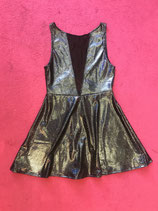 Black Holographic Mesh Dress