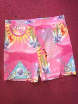 Pink Sun Print Legging Short