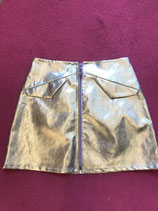 Silver Fake Leather Skirt