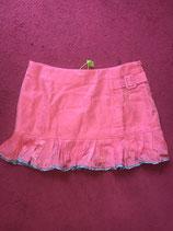 Pink Two Tone Tennis Style Mini Skirt