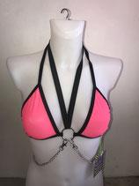 Pink Sheer Bikini Top