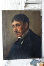 Antikes Herren Porträt Ölgemälde um 1880