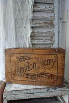Rar: Dekorative alte Holzkiste Werbung Amidon Remy Frankreich
