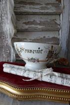 Shabby: Zauberhafte alte französische Porzellan Bol