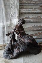 Wunderschöne antike Statue / Uhrenaufsatz, Frankreich 19. Jahrh.