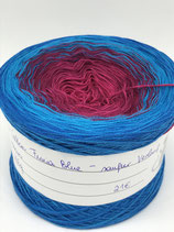 Cotton Fuxia Blue - sanfter Verlauf