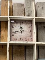 Regal mit Uhr antique weiß