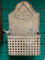 Blechregal mit Vogel Clayr&Eef grün-grau-gold