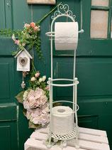 Toilettenrollenhalter creme Metall