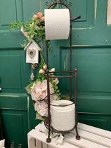 Toilettenrollenhalter braun Metall