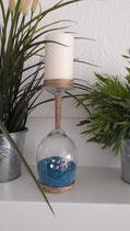 Kerzenständer blau