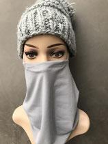 Mund-Nasen-Loop grau