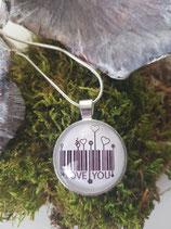 """Halskette + Anhänger """"Barcode Herzen"""""""