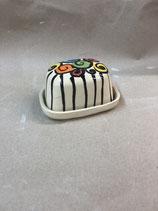 kleine Butterdose für 125g Butter  Keramik Handarbeit im Design tayona