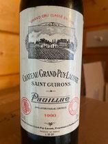 1990 Chateau Grand Puy Lacoste, Pauillac, Bordeaux 0,375 ltr.