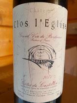 2001 Clos l´Eglise, Cotes de Castillon, Bordeaux 0,75 ltr.