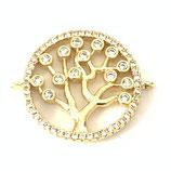 Link Baum des Lebens (1) - mit Zirkonen - 18.5mm, golden