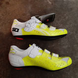 SIDI Rennradschuhe SCARPE Genius 5 FIT CARB. VERN White Yellow Fluo