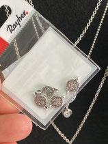 Metall Mini Anhänger Münze mit 2 Ösen versch.