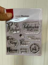 Clear Stamps Süße Grüße