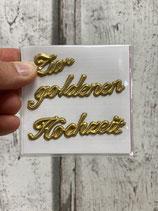 Wachs Dekorationsteil Zur goldenen Hochzeit