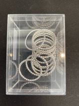 Metallringe gedreht groß silber 25mm