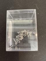 Schmetterling aus Metall silber
