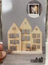 Häuser Holzmotiv