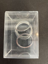 Metallringe flach groß silber 30mm