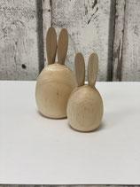 Holzhase Ei zwei Größen