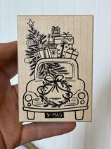 Stempel Weihnachtsauto