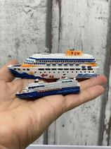 Kreuzfahrtschiff verschiedene