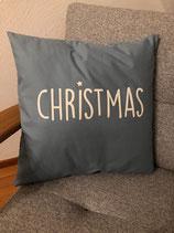 Kissenhülle Christmas rauchblau 40x40
