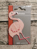 Applikation Flamingo zartes rosa