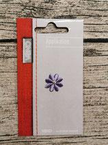 Applikation Blume lila